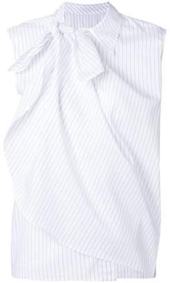 MM6 MAISON MARGIELA layered stripe sleeveless shirt