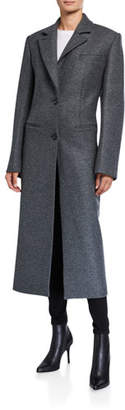 Nina Ricci Wool-Cashmere Two-Button Coat