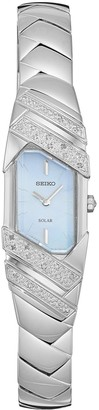 Seiko Women's Tressia Diamond Stainless Steel Solar Watch - SUP331