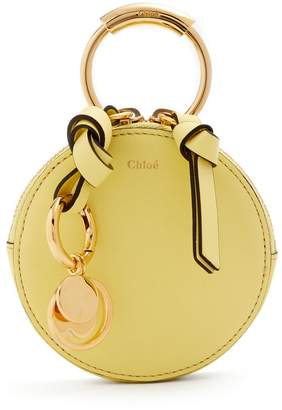 Chloé Round mini leather coin purse