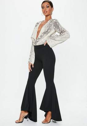 Missguided Extreme Draped Frill Cigarette Trousers