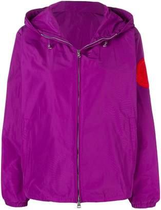 Moncler logo patch windbreaker jacket