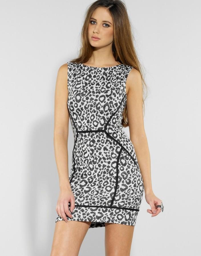 Lipsy Panelled Leopard Shift Dress