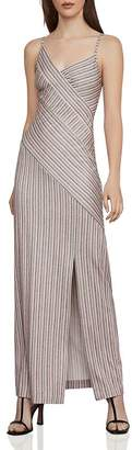 BCBGMAXAZRIA Directional-Stripe Maxi Dress