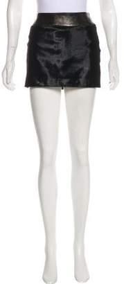 Plein Sud Jeans Ponyhair Mini Skirt w/ Tags