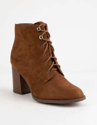Soda Sunglasses Lurk Chestnut Womens Heeled Booties