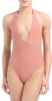 Made In USA Hudson Halter Bodysuit