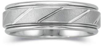 MODERN BRIDE Mens 7mm Tungsten Carbide Comfort Fit Wedding Band