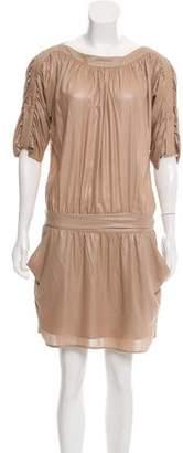 Halston Mini Drop Waist Dress