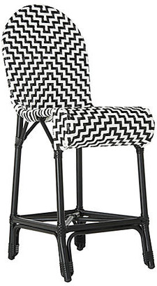 One Kings Lane Shea Counter Stool - Black/White