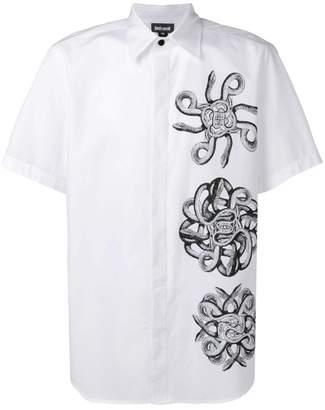 Just Cavalli snake print short-sleeve shirt