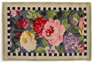 MacKenzie-Childs Tudor Rose Rug, 3' x 5'