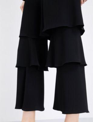 Osman Felix flounce satin trousers