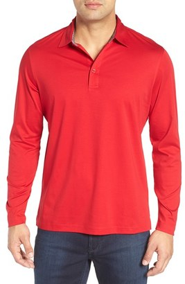 Men's Bugatchi Classic Fit Solid Polo $129 thestylecure.com