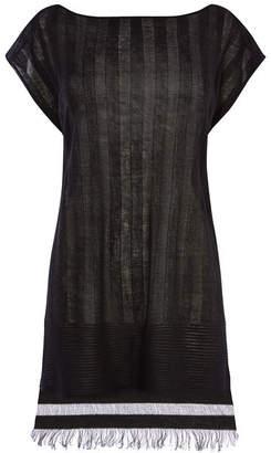 Karen Millen Semi-Sheer Striped Tunic