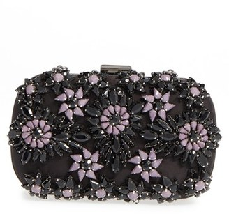Natasha Couture Crystal Floral Box Clutch - Black $128 thestylecure.com