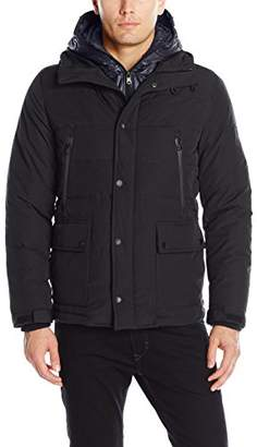 London Men's Faille Fly Front Parka with Double Hood