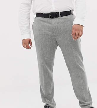 Hatch ASOS DESIGN Plus wedding skinny suit pants in gray cross