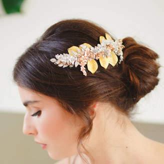 Arabella Victoria Millesime Statement Botanical Bridal Hair Comb