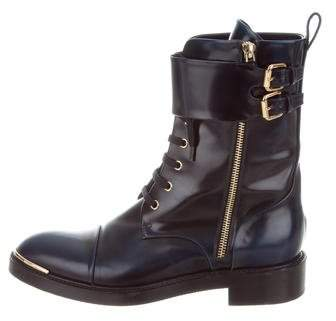 Louis Vuitton Leather Combat Ankle Boots