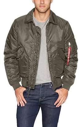 Alpha Industries Men's CWU 45/P Slim FIT MID Length Zip Flight Jacket