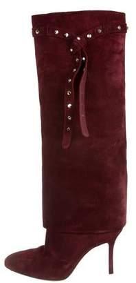 Valentino Rockstud Fold-Over Boots