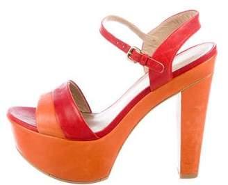 Stuart Weitzman Bi-Color Platform Sandals