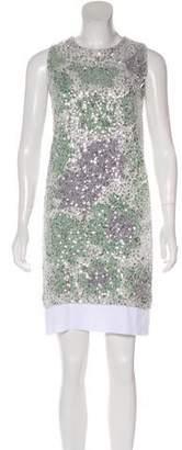 Diane von Furstenberg Izzy Sequin Sleeveless Mini Dress