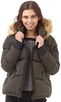Brave Soul Womens Marcello Padded Jacket Khaki