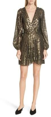 A.L.C. Elsa Marina Leopard Fil Coupe Dress