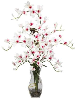 Nearly Natural nearly natural Liquid Illusion Silk Dendrobium Orchid Floral Arrangement