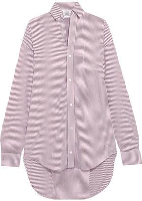 Vetements - Oversized Striped Cotton Shirt - Burgundy $630 thestylecure.com