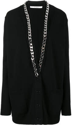 Givenchy Thick chain knitted cardigan