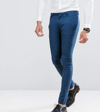 Noak TALL Super Skinny Wedding Suit PANTS in Blue