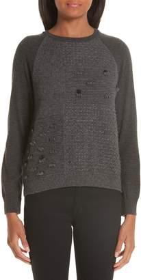 Simone Rocha Patchwork Wool & Cashmere Sweater