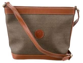 Fendi Leather-Trimmed Crossbody Bag