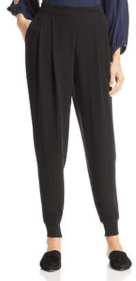 Eileen Fisher Petites Pleated Silk Jogger Pants