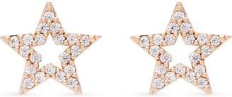 Astrid & Miyu New Tricks rose gold star earrings, 18k rose gold