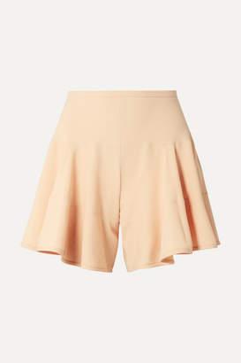 Chloé Paneled Crepe Shorts - Beige