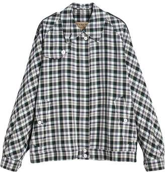 Burberry Check Oversized Harrington Jacket