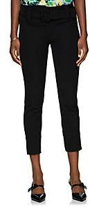 Prada Women's Gabardine Belted Skinny Trousers - Black