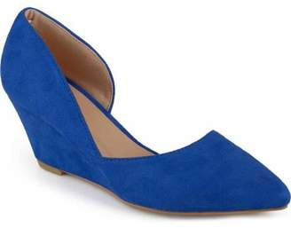 Co Generic Brinley Womens Pointed Toe Faux Suede Classic D'orsay Wedges
