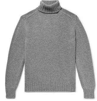 Drakes Drake's - Melange Wool Rollneck Sweater - Gray
