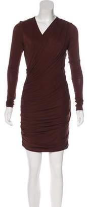 J. Mendel Ruched Mini Dress