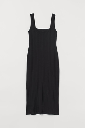 H&M Ribbed Dress - Black