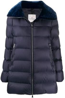 Moncler velvet collar zipped jacket