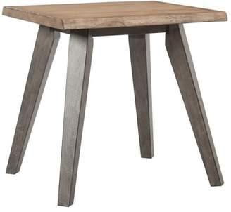 Office Star OSP Designs by Products Oakridge End Table in Rustic Sand K/D