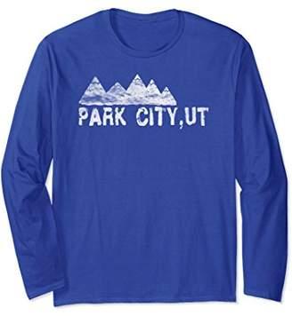 Trendy Grunge Park City Ski Town Retro Long Sleeve T-Shirt