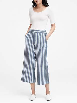 Banana Republic Petite High-Rise Wide-Leg Cropped Pant