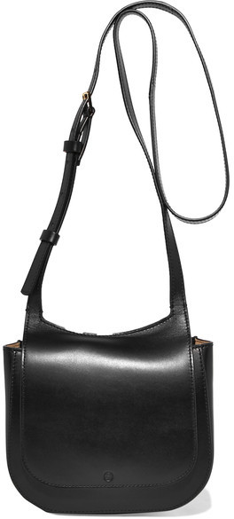 The Row - Hunting 7 Leather Shoulder Bag - Black